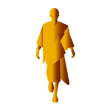 The Figure And Silhouette Of A Gold-colored Fashion Model. Walks The Podium Confidently And Independently. Vector Illustration For Logo, Card.
