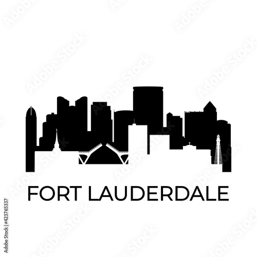Obraz na plátne Fort lauderdale, Florida city skyline