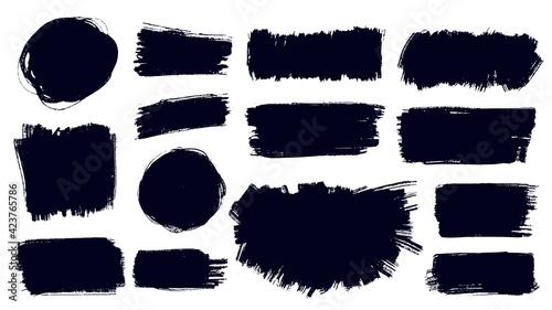 Canvas Print Vector brush strokes