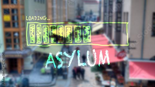 Fotografie, Obraz Street Sign to Asylum