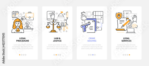 Canvas Print Law and justice - modern line design style web banners