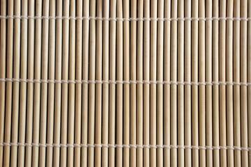 Bamboo sushi mat close up
