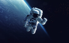Astronaut On A Walk Into Space