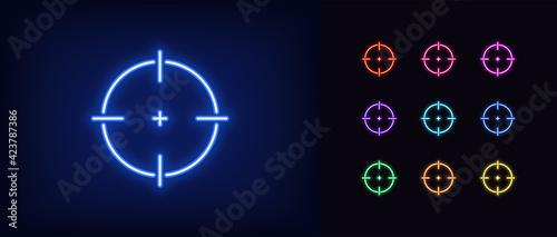 Fotografia Neon aim icon