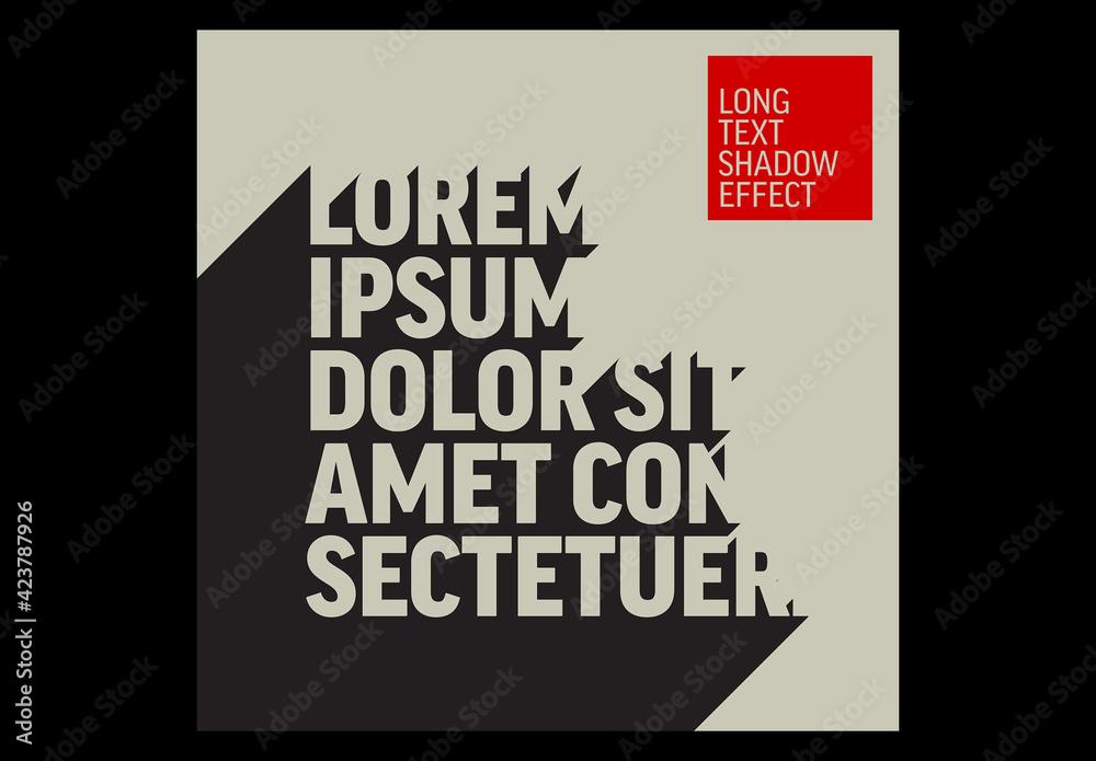 Fototapeta Long Dark Shadow Text Effect