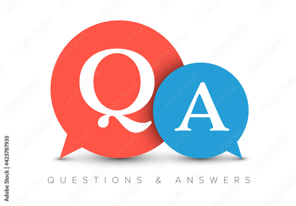 Fototapeta Question and Answers Concept Illustration