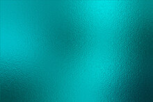 Teal Texture Foil. Turquoise Metallic Effect. Emerald Shine Background. Blue Green Color Surface. Backdrop Metal Plate Texture. Metallic Pattern Foil For Design, Cards, Banners, Covers, Prints. Vector