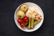 Pickled Vegetables Set. Healthy Fermented Food Set