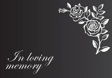 In Loving Memory Illustration For Funeral Ceremony