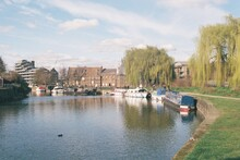 River Lea And The Three Mills, Bromley By Bow, London.