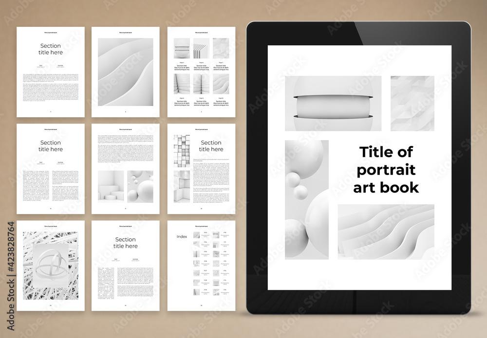 Fototapeta Black and White Electronic Book Layout
