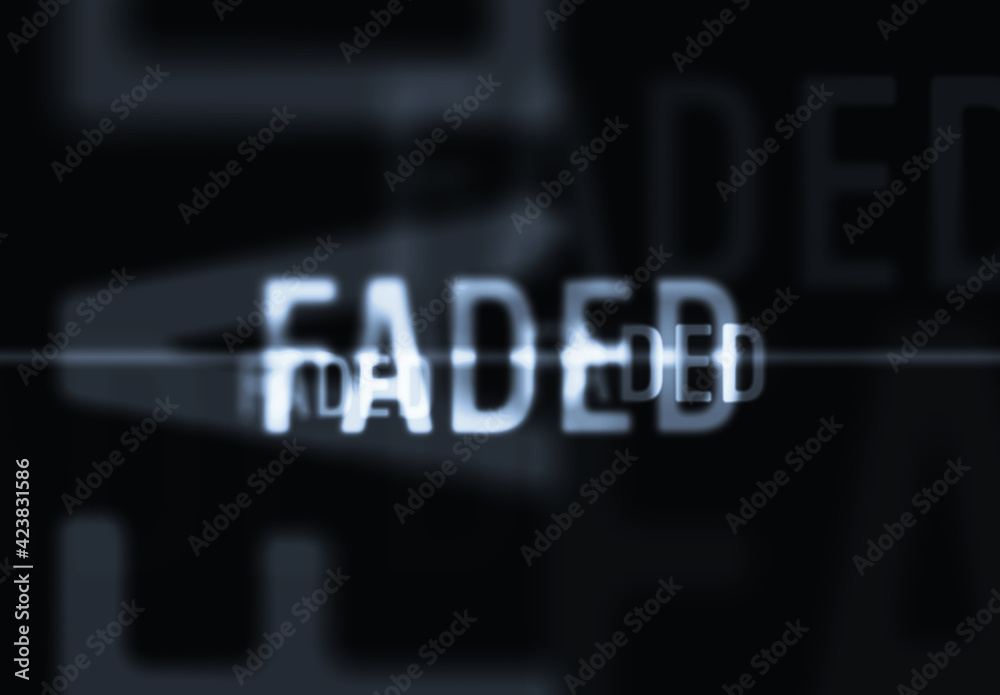 Fototapeta Misty Blurred Thriller Text Effect