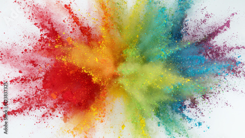 Fototapeta Explosion of colored powder obraz