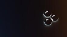 3d Rendering Of White Light Stripe Symbol Of Lupin On Dark Background