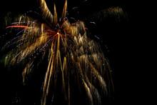 Fireworks On Night Sky