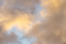 Clouds On Sky At Sunset