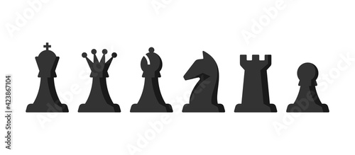 Canvastavla Chess pieces vector set