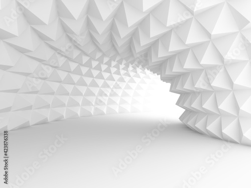 3d design, where the calm white color gives a beautiful space Fototapeta