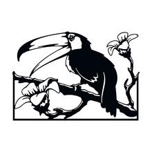 Toucan Bird, African Stencils - Silhouettes, Wildlife Clipart, Iron On, Vector, Vinyl Design.