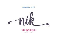 NIK Lettering Logo Is Simple, Easy To Understand And Authoritative