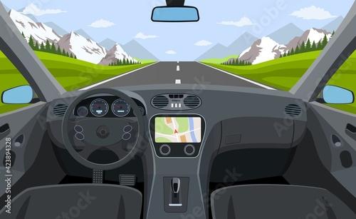 Vehicle salon, inside car driver
