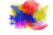Abstract Watercolor Background With Wings