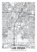 City Map Las Vegas, Travel Vector Poster Design