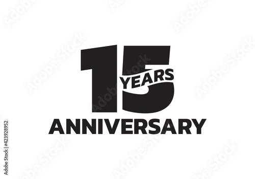 Fototapeta 15 years anniversary logo