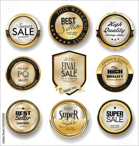 Fototapety, obrazy: Luxury retro badges and labels collection