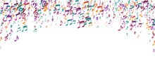 Music Note Symbols Vector Backdrop. Symphony
