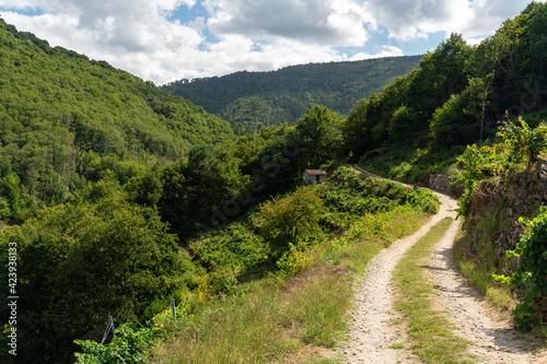 Ribeira Sacra. Belesar dam, Miño river, Chantada, Lugo province, Galicia, Spain