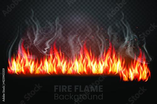 Fotografia Red Fire sparks flying up, vector
