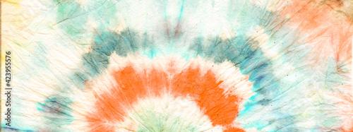 Fototapeta  Yellow Tie Dye Wash. Die Boho Silk Background. obraz