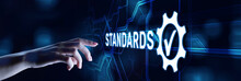 Quality Control Assurance Standard Iso Standardisation Certification Business Technology Concept