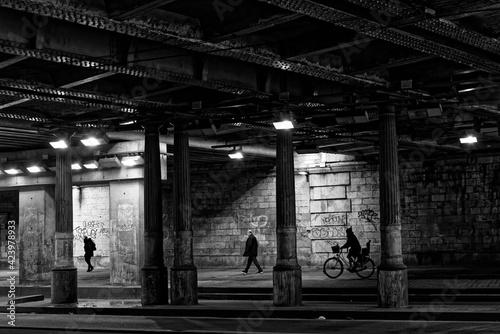 Brancion tunnel along the large boulevards of Paris. Fototapet