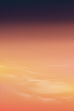 Sunrise In Morning With Orange,Pink, Purple And Dark Blue, Vertical Dramatic Twilight Landscape  Sunset In Evening, Vector Illustration Sky Banner Of Sunlight For Four Seasons Background