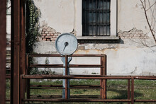 Old Scales In An Old Abandoned Slaughterhouse.