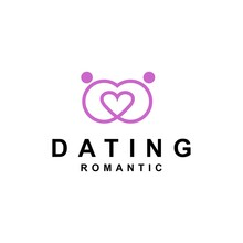 Dating Love Romantic Logo Design Vector Illustration