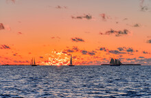 Fiery Sunset On The Gulf Of Mexico In Key West, Florida