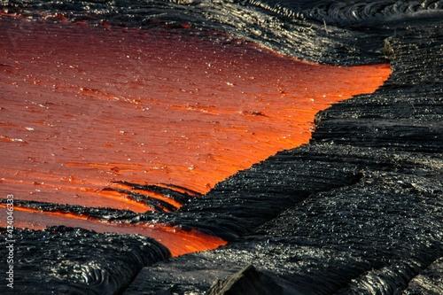 Photo Coulées de lave du volcan Kilauea à Hawaii