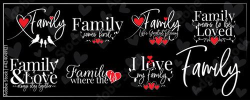 Fotografija Family banner blackboard, vector