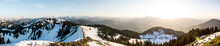 Panorama View Seekarkreuz Mountain In Bavaria, Germany