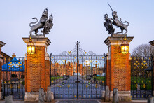 A Sunset View Of Hampton Gate In Spring, London