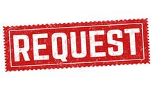 Request Grunge Rubber Stamp