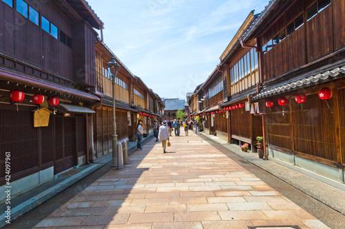 Obraz na plátně Higashi Chaya Districts is a historic entertainment district with teahouses where geisha perform
