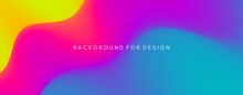 Abstract Wavy Background With Modern Gradient Colors. Trendy Liquid Design. Modern Pattern. Vector Illustration For Banners, Flyers And Presentation.