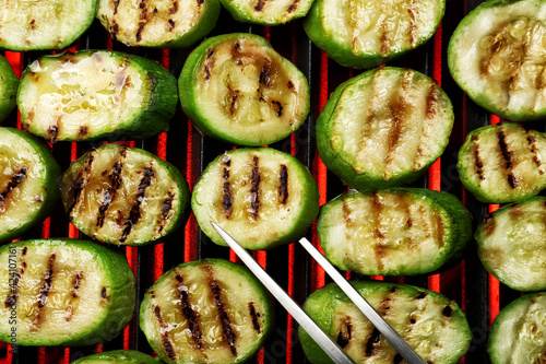 Tasty squash cooking on grill Tapéta, Fotótapéta