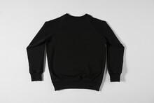 Black Casual Sweatshirt For Kids On Grey Background