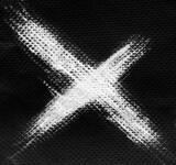 Fototapeta Młodzieżowe - White X ink letter