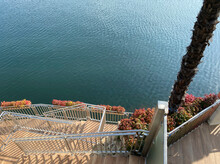 Beautiful Background, Stairs Down, Lake. Beautiful Mobile Phone Wallpaper